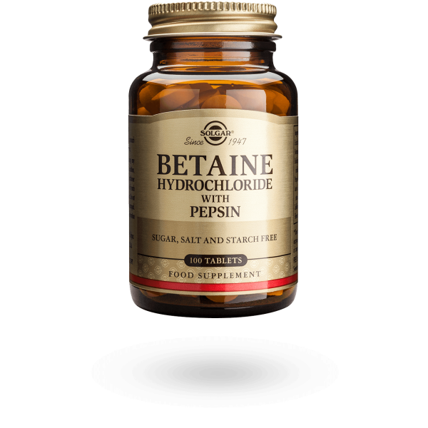 Betaine Hydrochloride with Pepsin 100's